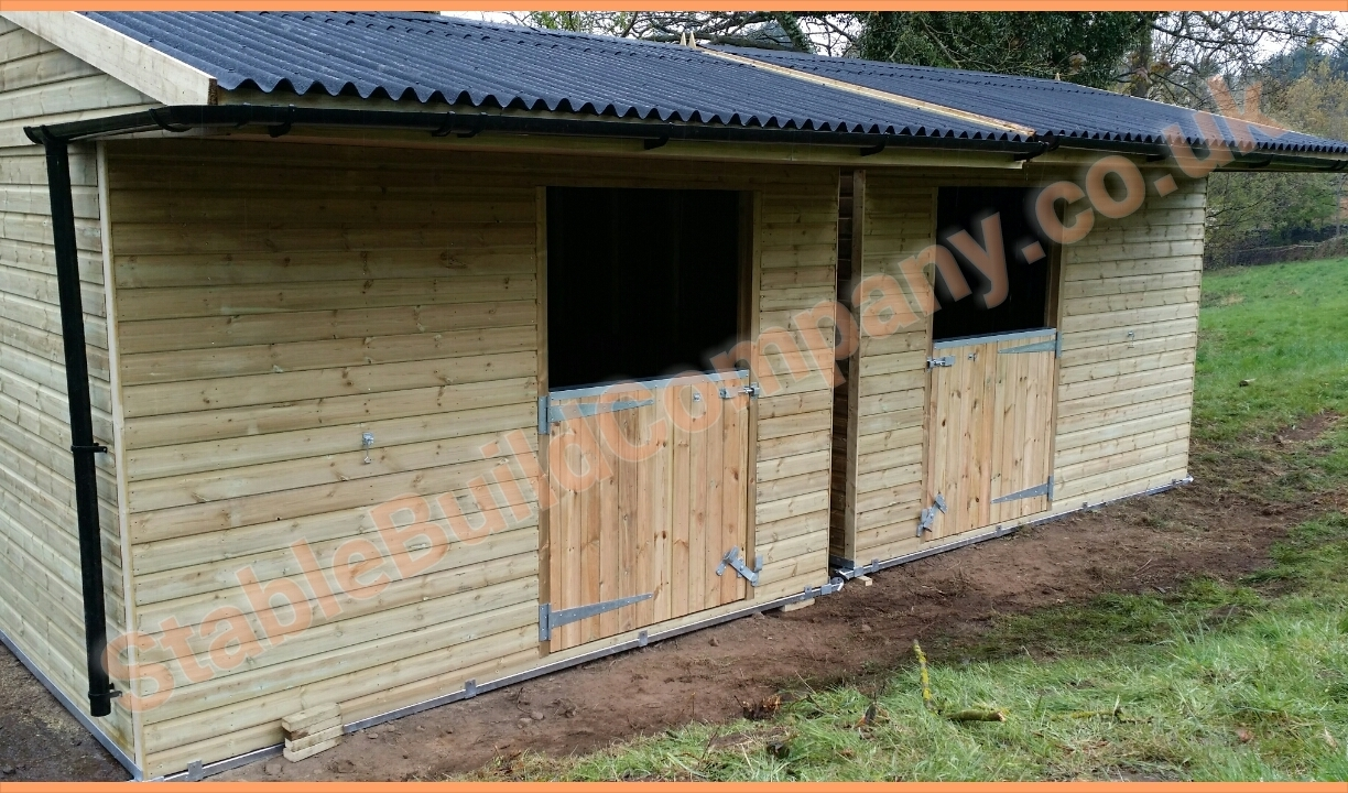 Photo gallery horse stables for sale garden sheds for Building a horse stable