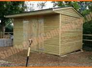 Storage shed with double doors in Wiltshire
